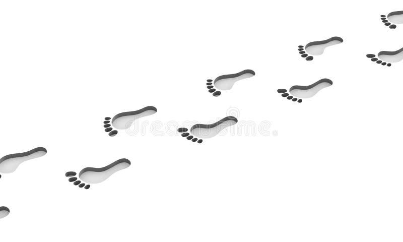 3d: Voetafdrukken in de Grond vector illustratie