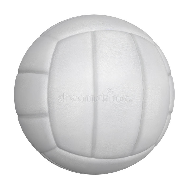 3D Volleyball Ball. Digitally rendered illustration of a volleyball ball on white background vector illustration