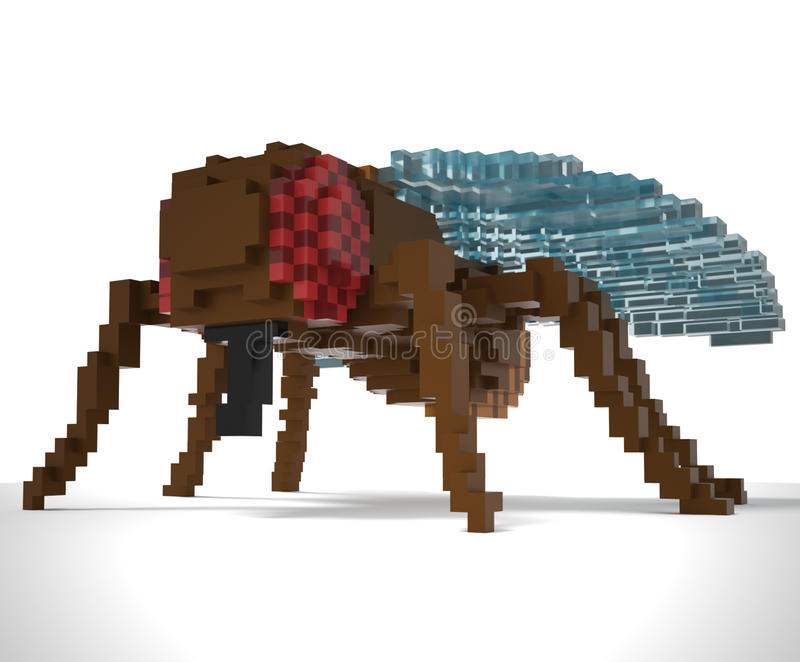 3d voxel fly royalty free stock photo