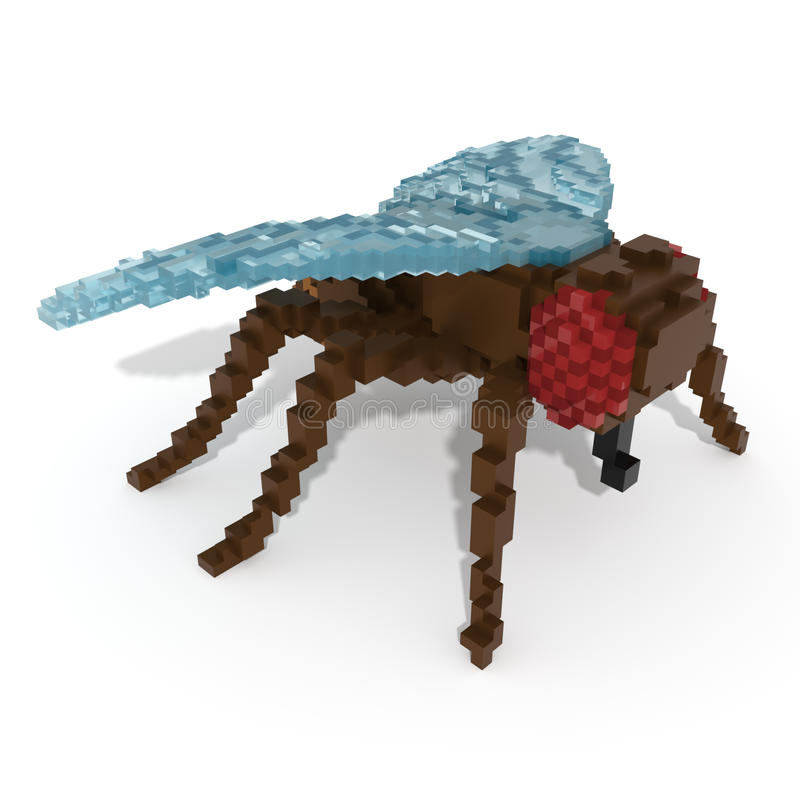 3d voxel fly royalty free stock photos