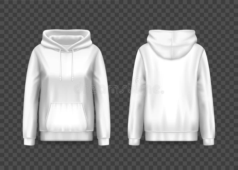 3d vrouwentrui hoodie of hoody, sweatshirt vector illustratie