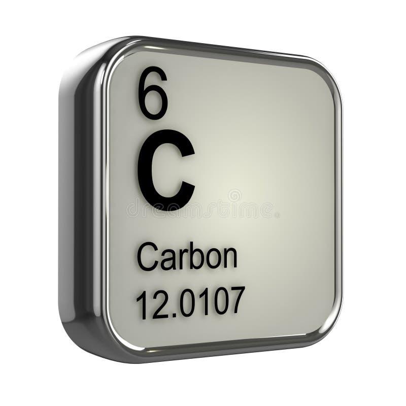 3d węgla element ilustracji