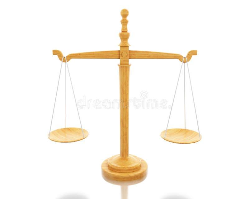 3d Waży równowagę ilustracja wektor