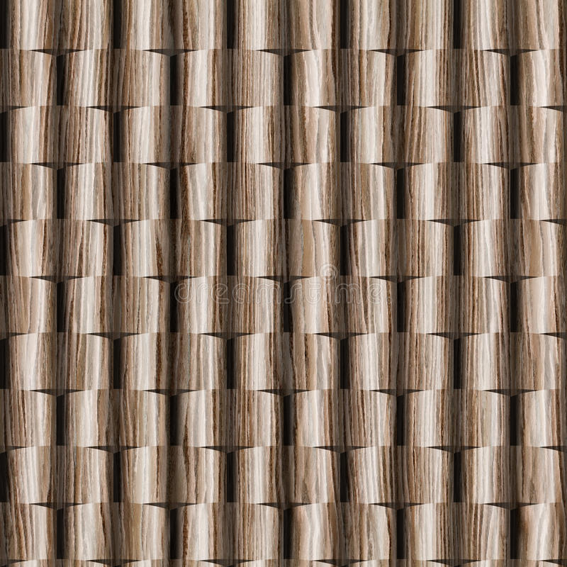 3D wall decorative tiles, Wood texture, Decorative paneling pattern. Interior Design wallpaper, Continuous replication, Different colors, Seamless background royalty free stock image