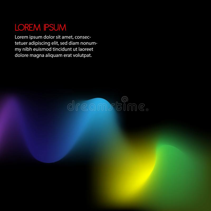 3D Wavy Background. Dynamic Effect. Abstract Vector Illustration. Design Template royalty free illustration