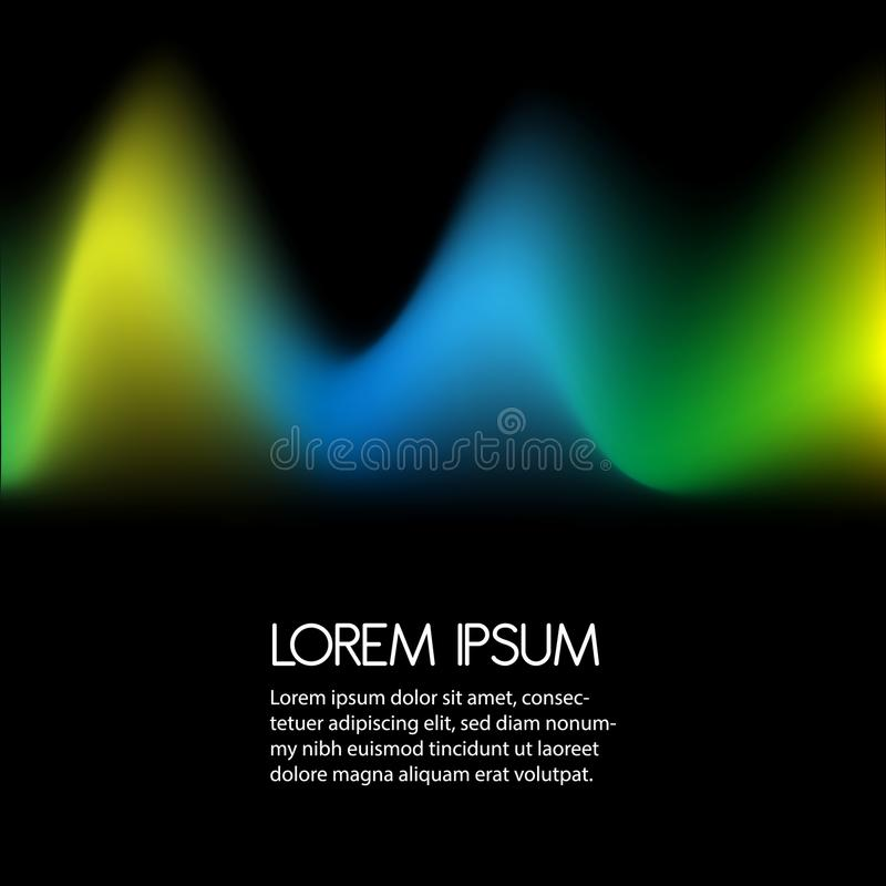 3D Wavy Background. Dynamic Effect. Abstract Vector Illustration. Design Template. Modern Pattern. stock illustration