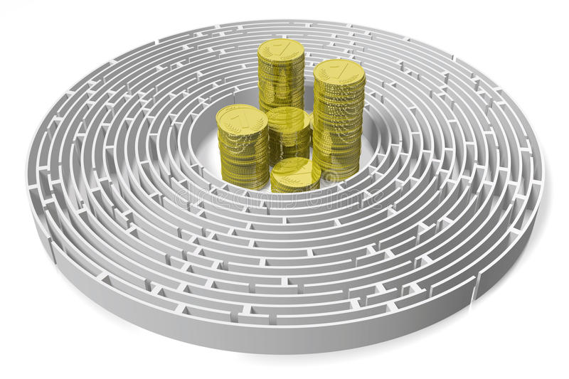 3D WEALTH MAZE concept... royalty free stock photo