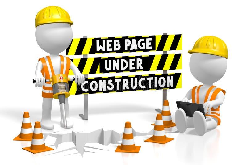 3D webpage under construction concept royalty free illustration