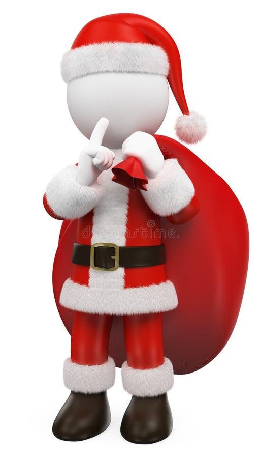 3D-Weiße Weihnachtsmann schickt Klaus lizenzfreie abbildung