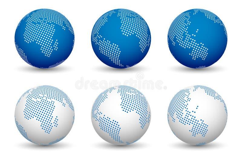 3d wereldkaarten vector illustratie