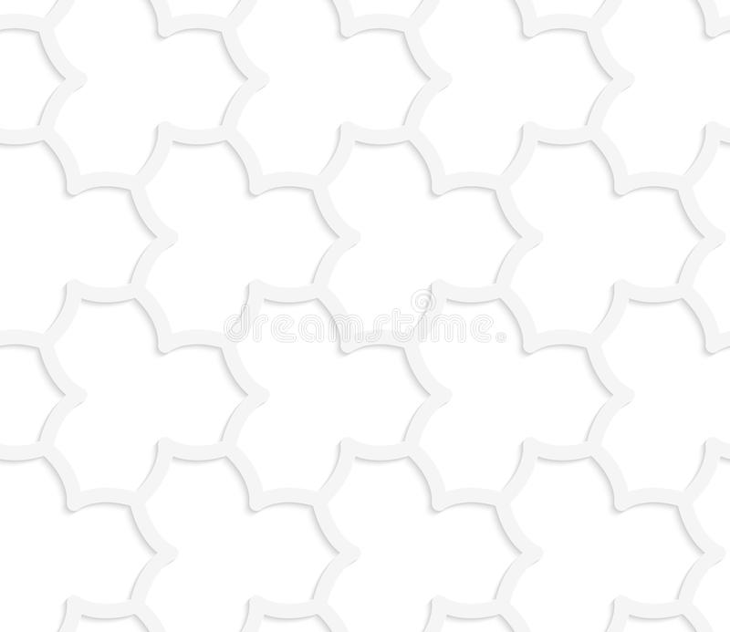 3D white abstract geometrical pointy flower grid vector illustration