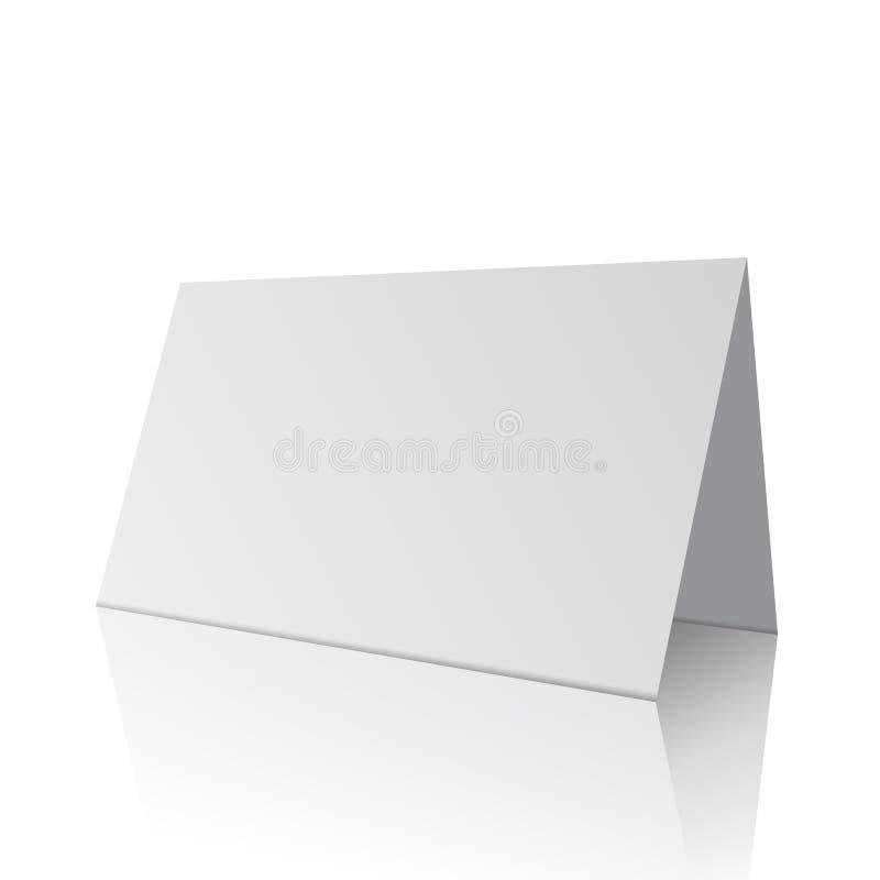 3d white blank paper card. Illustration OF 3d white blank paper card on white stock illustration