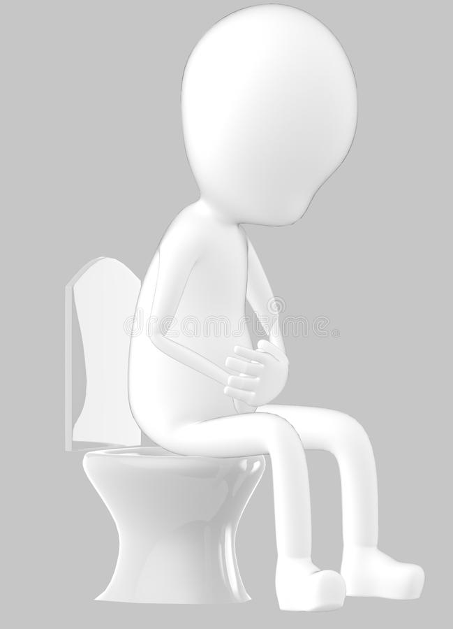 3d white character , character sitting in a closet vector illustration