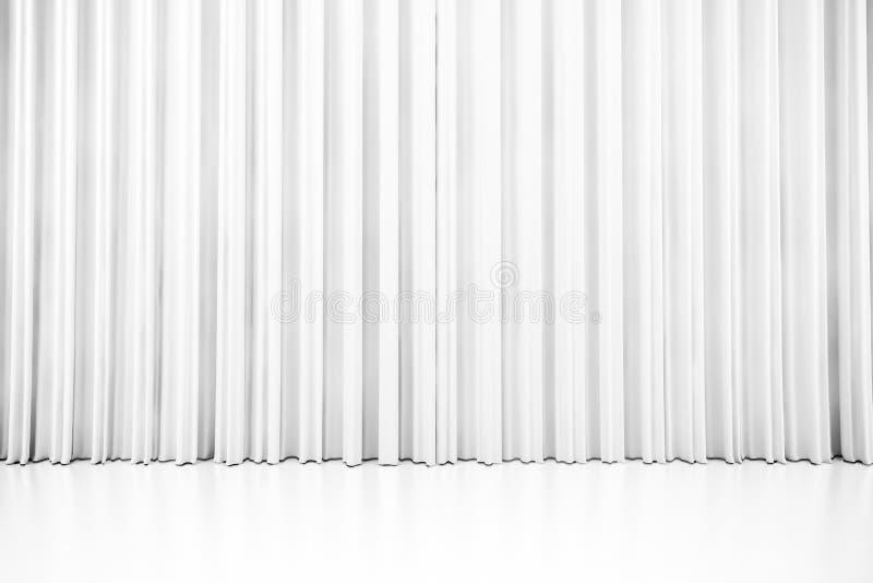 3d white clean curtain vector illustration