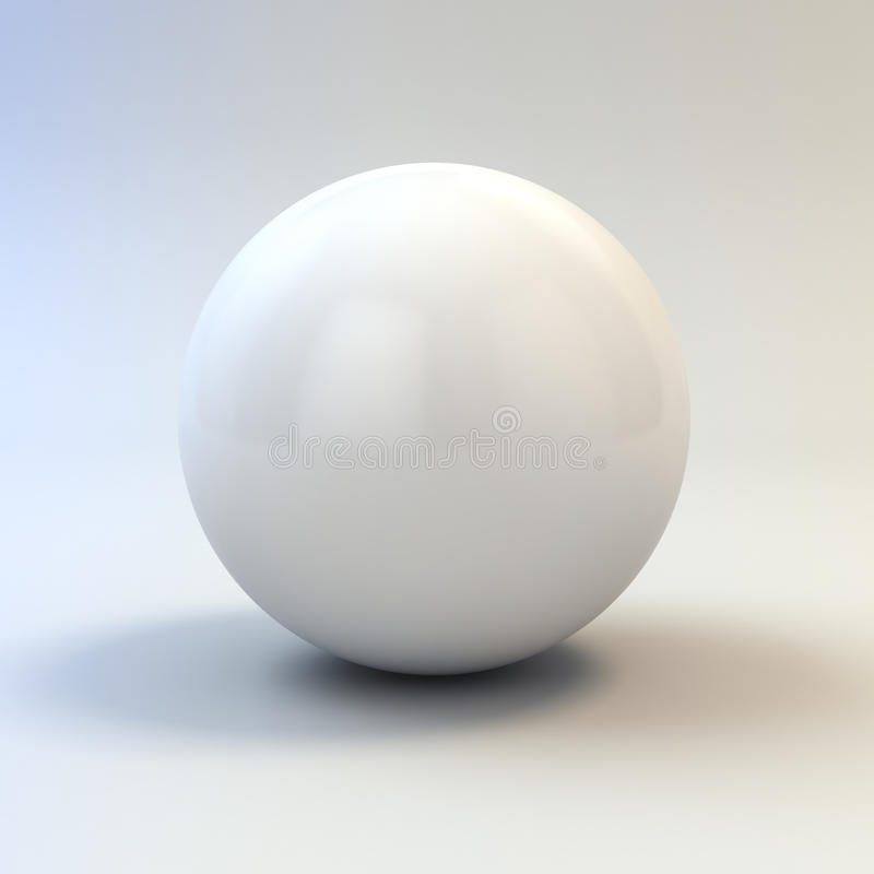 3d white glossy sphere royalty free illustration