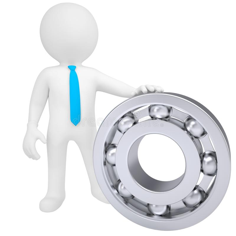 Download 3d White Man With The Bearing Stock Image - Image: 29932421