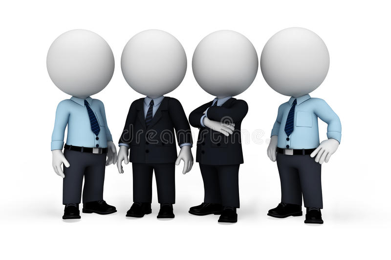 Download 3d White People As Serviceman With Business Man Stock Illustration - Illustration: 31232741