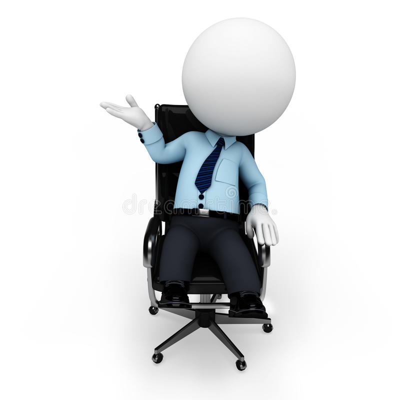 Download 3d White People As Serviceman Sitting On The Chair Stock Illustration - Illustration of people, human: 31232746