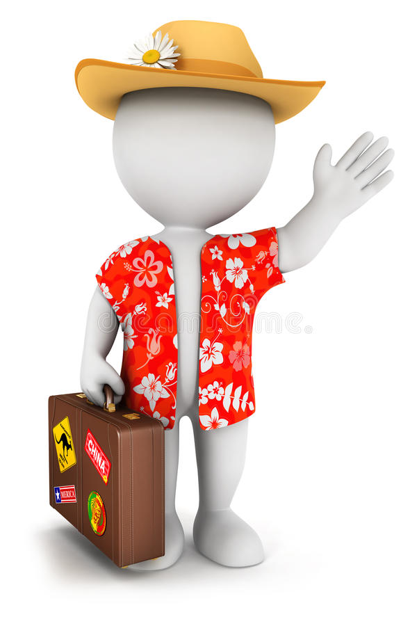 Download 3d White People Goes On Vacation Stock Illustration - Image: 30238533