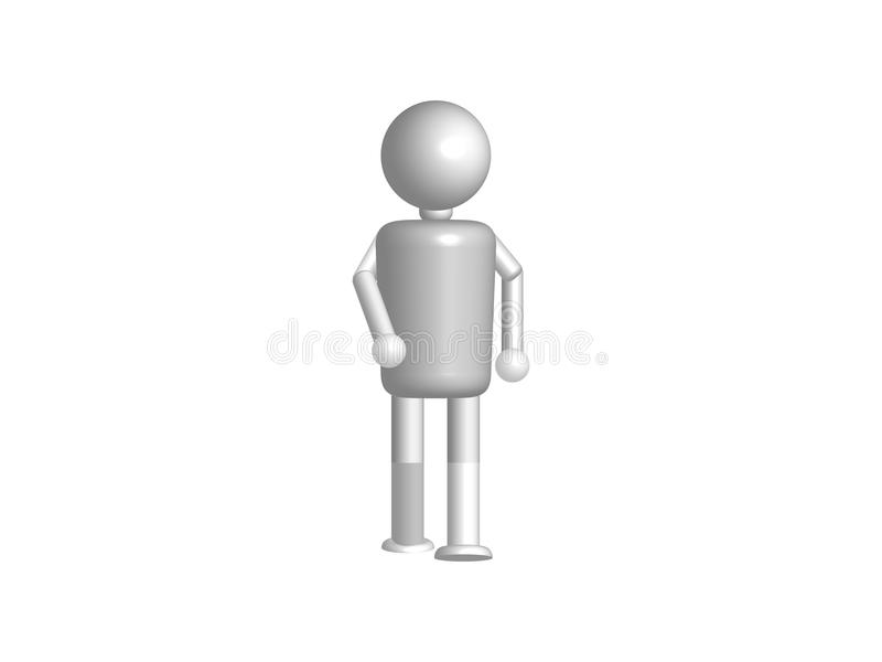 3d white people - man Walking isolated background business concept illustration vector royalty free illustration