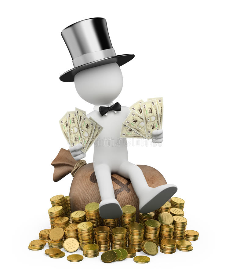 Download 3D white people. Rich man stock illustration. Illustration of rich - 37637480