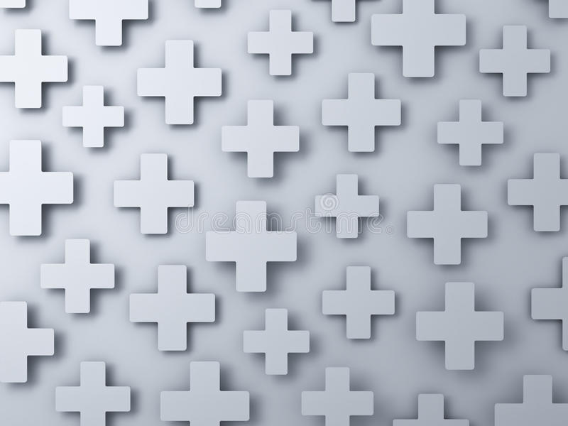 Download 3d White Plus Signs Abstract Background Stock Illustration - Image: 34760081
