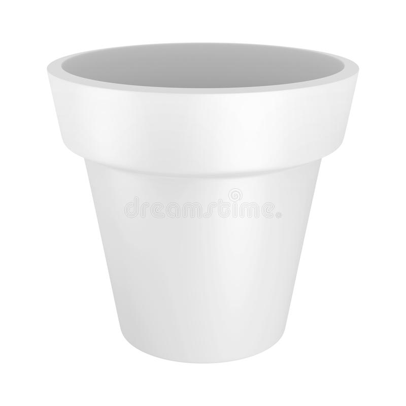 3D White Pot stock photography