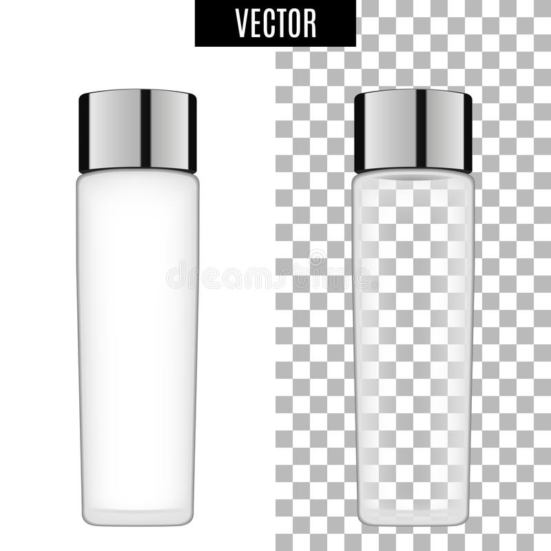 3d white realistic cosmetic package icon empty tubes on transparent background vector illustration. Realistic white stock illustration