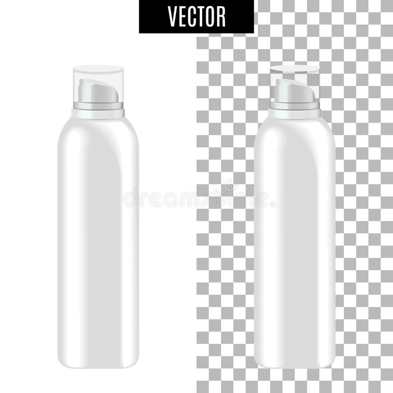 3d white realistic cosmetic package icon empty tubes on transparent background vector illustration. Realistic white vector illustration
