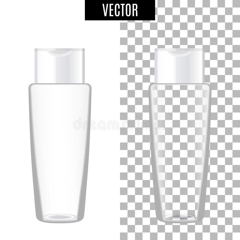 3d white realistic cosmetic package icon empty tubes on transparent background vector illustration. Realistic white royalty free illustration