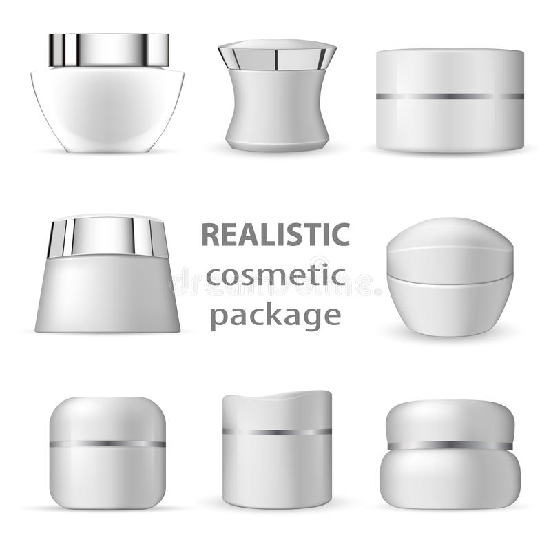 3d white realistic cosmetic package stock illustration