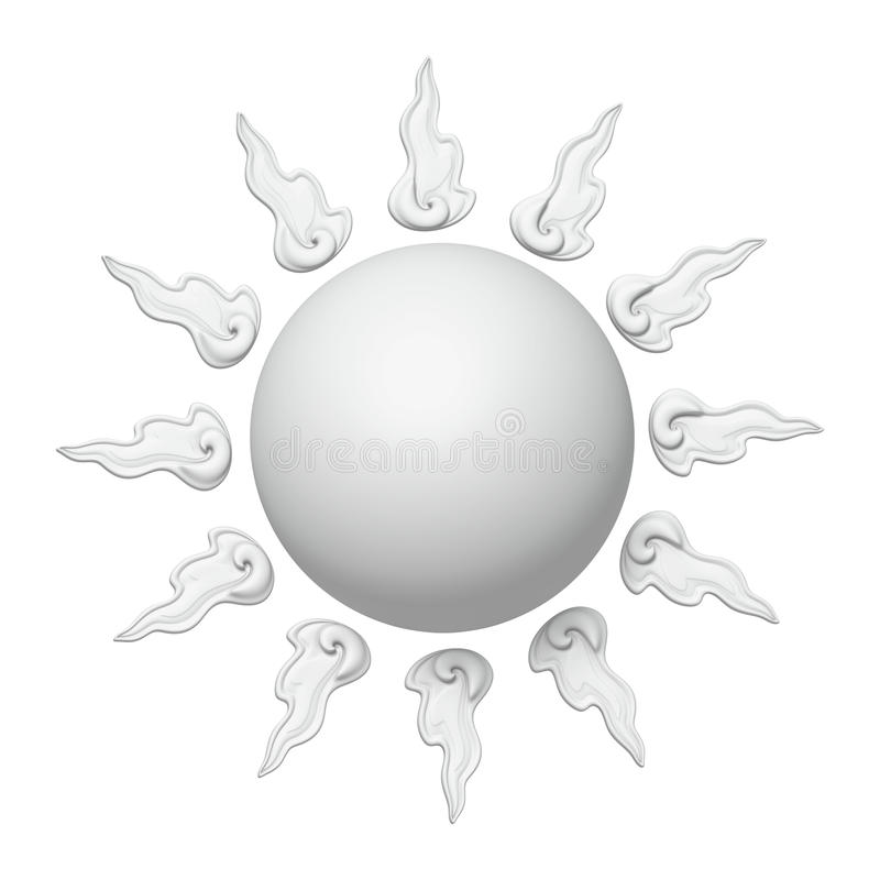 3D White Sun stock photo