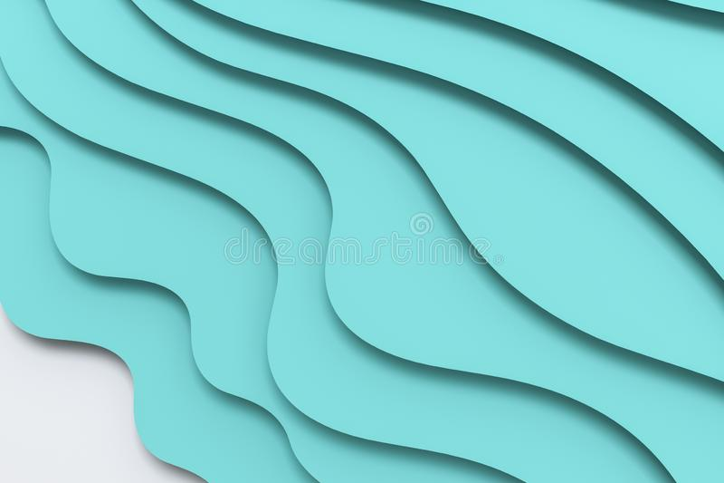 3d Wiedergabe, mehrschichtiger Papierschnitt-Illustrationshintergrund vektor abbildung