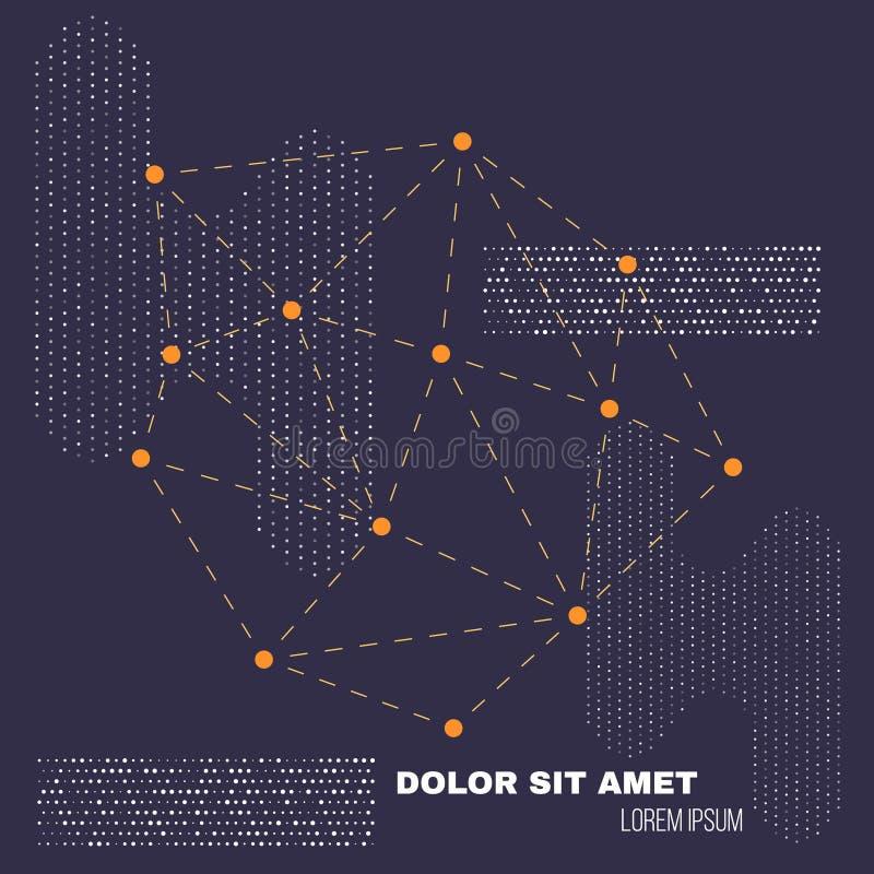 3D wieloboka geometrii Niski tło Abstrakcjonistyczny poligonalny geometryczny kształt Lowpoly Minimalna Stylowa sztuka wektor ilustracja wektor