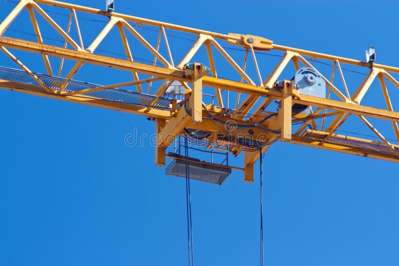 Download Dźwigowy tramwaj obraz stock. Obraz złożonej z yellow - 25905619