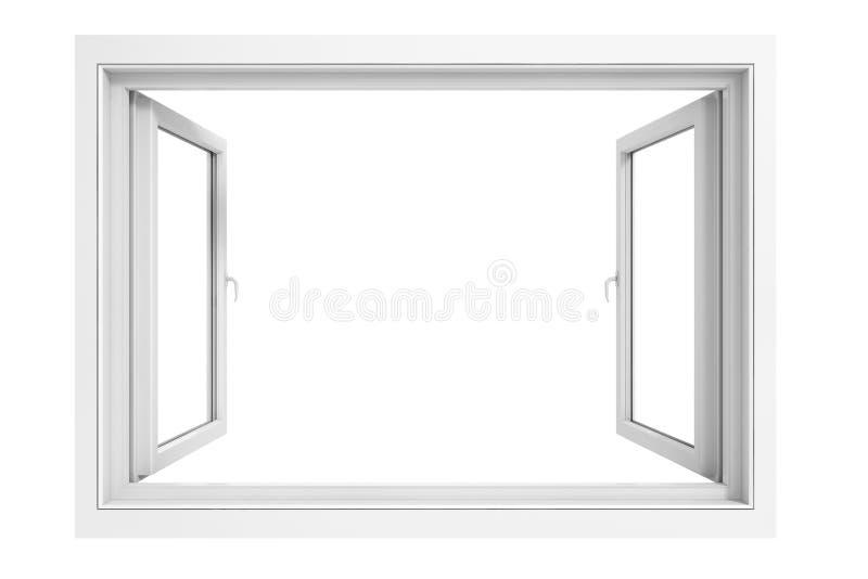 3d window frame. On white background