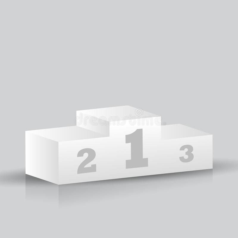 3D winners podium isolated on grey background stock image