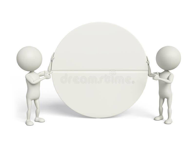 3d Wit met geneeskunde stock illustratie