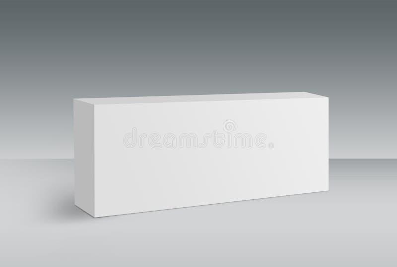 3D Witte Doos op Grond royalty-vrije illustratie