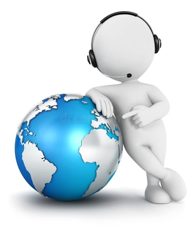 3d witte mensen globale mededeling royalty-vrije illustratie