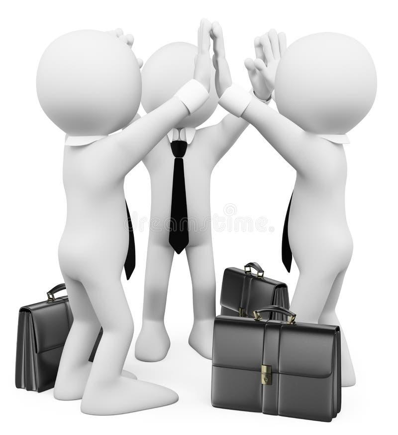 3d witte mensen Succes bedrijfsgroepswerk royalty-vrije illustratie