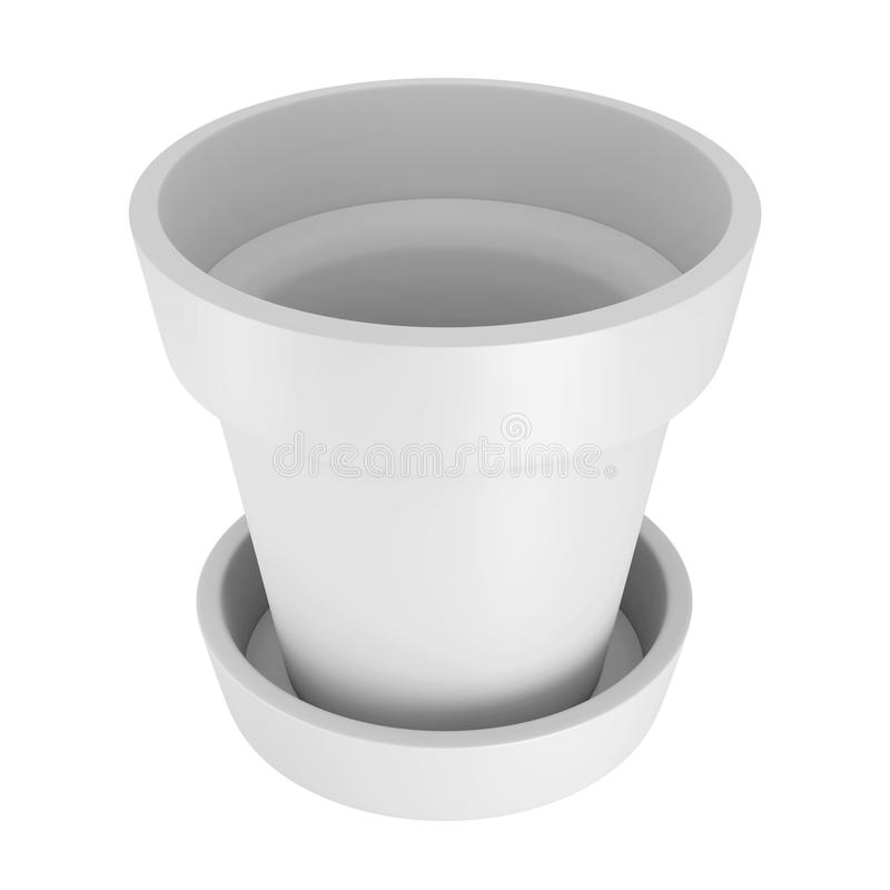 3D Witte Pot royalty-vrije stock fotografie