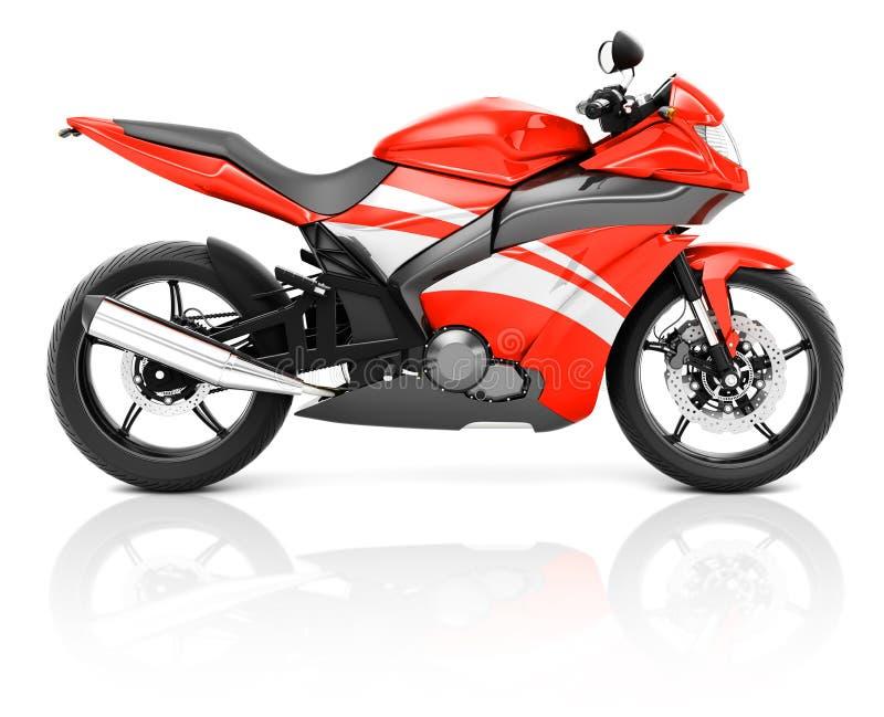 Download 3D Wizerunek Czerwony Nowożytny Motocykl Ilustracji - Ilustracja złożonej z klasa, transport: 41953503