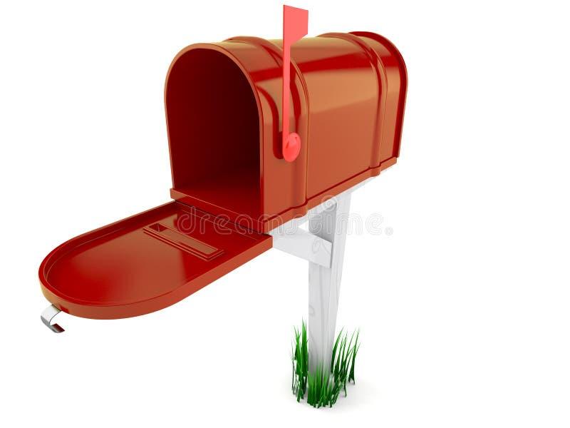 3d wizerunek odizolowywająca skrzynka pocztowa otwarta ilustracji