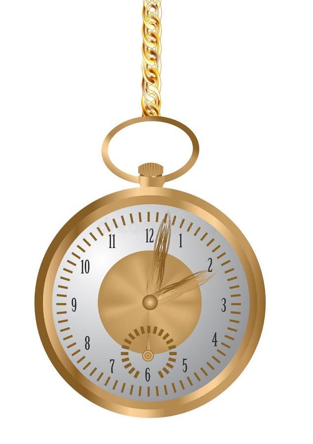 3d wizerunku kieszeń odpłacający się zegarka biel ilustracja wektor