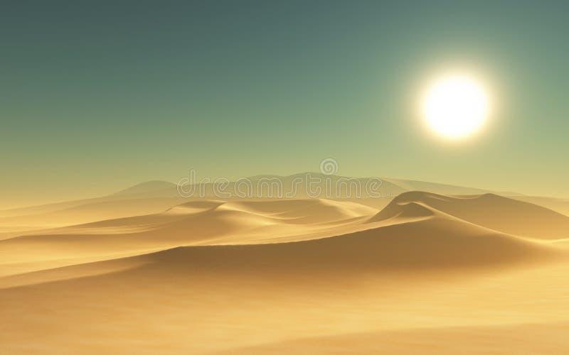 3D woestijnscène stock illustratie