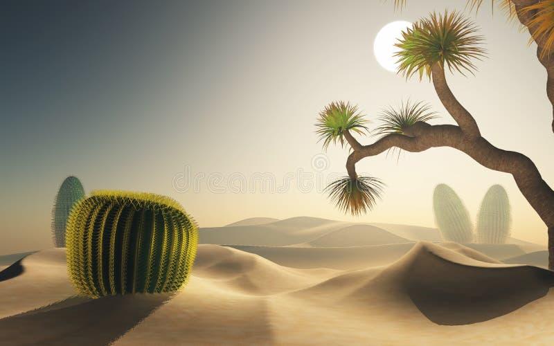 3D woestijnscène vector illustratie