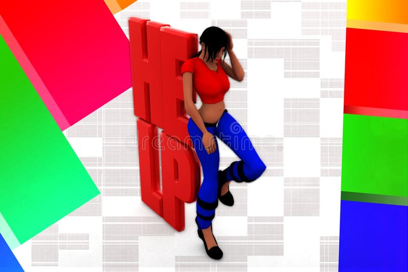 Download 3d Women Help Illustration stock illustration. Image of business - 44020059