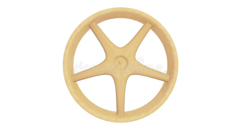 3D Wooden Spoked Wheel royalty free stock photo