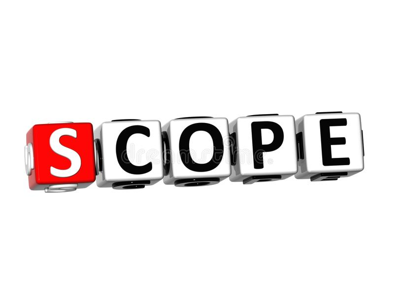 3d word scope on white background stock illustration